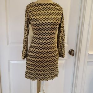 Missoni made in Italy Dress size 4 Gold sparkle